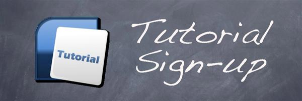 Tutorial Sign-up